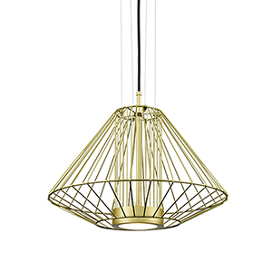 Arctic Gold 15-Inch One-Light Pendant