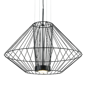 Arctic Black 19-Inch One-Light Pendant