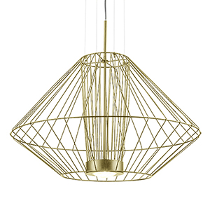 Arctic Gold 19-Inch One-Light Pendant