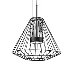 Arctic Black 23-Inch One-Light Pendant