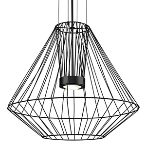 Arctic Black 31-Inch One-Light Pendant