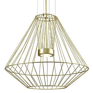 Arctic Gold 31-Inch One-Light Pendant