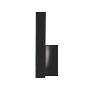 Warner Black 12-Inch One-Light Left-Side Wall Sconce