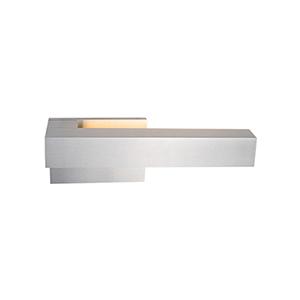 Warner Brushed Nickel 12-Inch One-Light Left-Side Wall Sconce