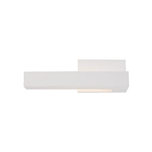 Warner White 12-Inch One-Light Left-Side Wall Sconce