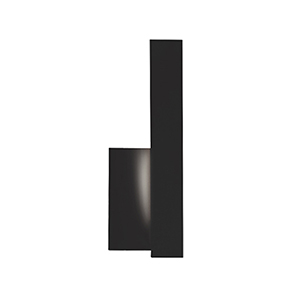 Warner Black 12-Inch One-Light Right-Side Wall Sconce
