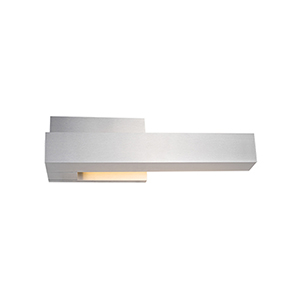 Warner Brushed Nickel 12-Inch One-Light Right-Side Wall Sconce