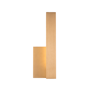 Warner Gold 12-Inch One-Light Right-Side Wall Sconce