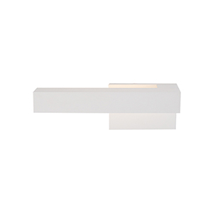 Warner White 12-Inch One-Light Right-Side Wall Sconce
