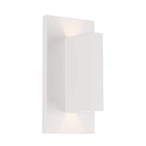 Vista White One-Light Wall Sconce