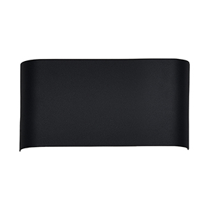 Plateau Black 12-Inch One-Light Wall Sconce