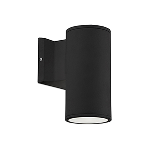Black Seven-Inch One-Light Wall Sconce with Tempered Glass