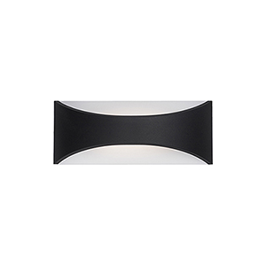 Black Eight-Inch One-Light Wall Sconce