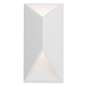 Indio White 12-Inch One-Light Wall Sconce
