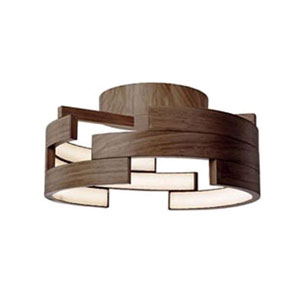 Walnut 15-Inch One-Light LED Flush Mount