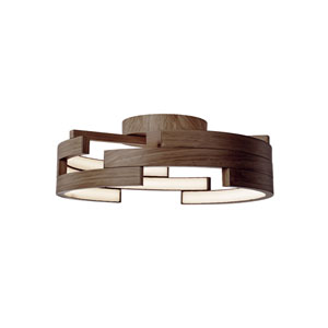 Walnut 21-Inch One-Light LED Flush Mount