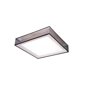 Covina Black 15-Inch One-Light LED Flush Mount