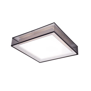 Covina Black 19-Inch One-Light LED Square Flush Mount