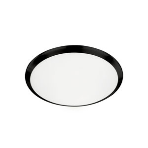 Black 12-Inch One-Light LED Flush Mount