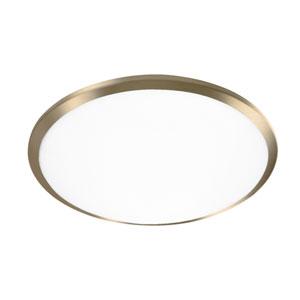 Brass 15-Inch One-Light LED Flush Mount