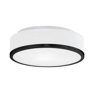 Charlie Black One-Light LED Flush Mount