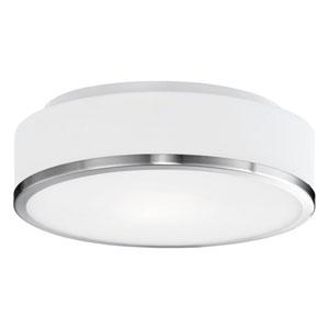 Charlie Nickel One-Light LED Flush Mount