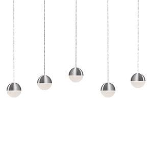Nickel Five-Light LED Pendant