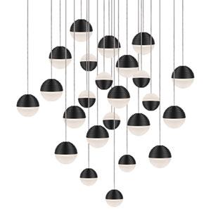 Black 20-Light LED Pendant