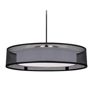 Covina Black One-Light LED Semi-Flush Mount