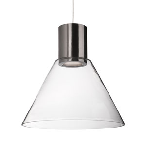 Nickel 11-Inch One-Light LED Pendant