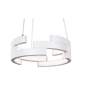 White 15-Inch One-Light LED Pendant