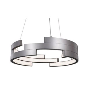 Nickel 21-Inch One-Light LED Pendant