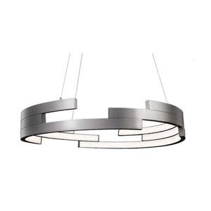 Nickel 31-Inch One-Light LED Pendant