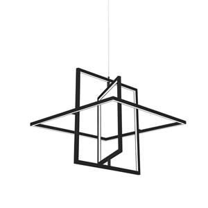 Mondrian Black One-Light LED Pendant