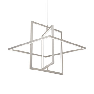 Mondrian Nickel One-Light LED Pendant