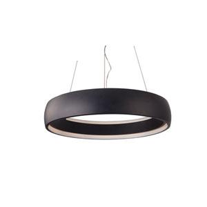 Halo Black 23-Inch One-Light LED Pendant