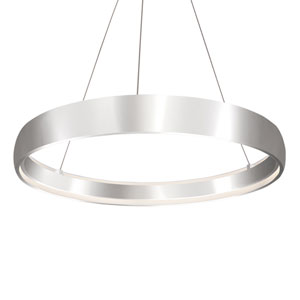 Halo Silver 35-Inch One-Light LED Pendant