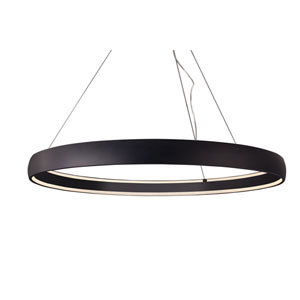 Halo Black 53-Inch One-Light LED Pendant