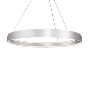 Halo Silver 53-Inch One-Light LED Pendant