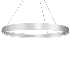Halo Silver 71-Inch One-Light LED Pendant
