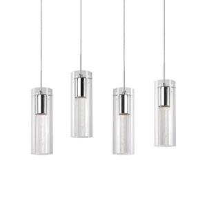 Chrome 11-Inch Four-Light LED Mini-Pendant