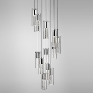 Chrome 168-Inch 12-Light LED Pendant