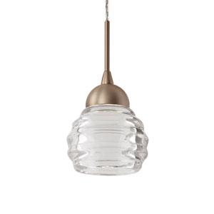 Brass Three-Inch One-Light LED Mini-Pendant