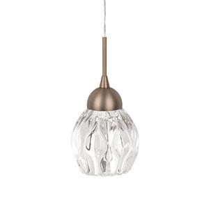 Brass Three-Inch One-Light LED Lantern Pendant