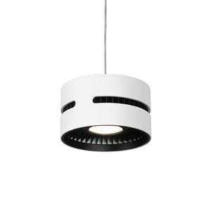 White and Black One-Light LED Mini-Pendant