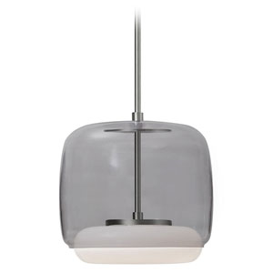 Enkel Smoked and Nickel 10-Inch One-Light LED Pendant