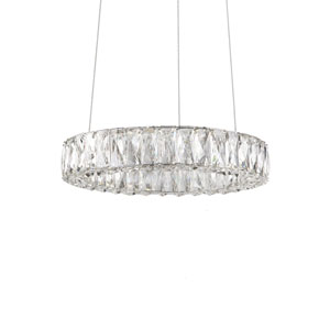 Solaris Chrome 17-Inch One-Light LED Pendant