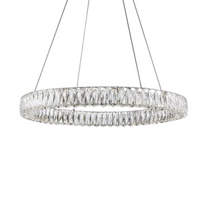 Solaris Chrome 31-Inch One-Light LED Pendant