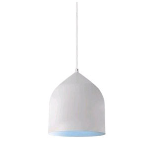 Helena White with Blue Seven-Inch One-Light LED Mini-Pendant