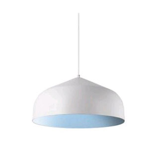 Helena White with Blue 16-Inch One-Light LED Pendant